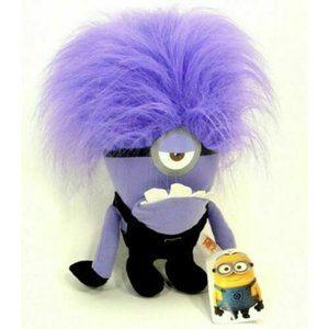 NWT Evil Minions Plush Toy Despicable Me 2 Purple